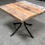 terrastafel 90 x 90 cm steigerhout