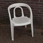 plastic stoel wit