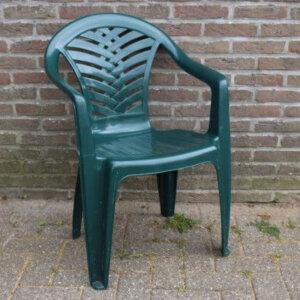 plastic stoel groen