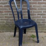 plastic stoel blauw