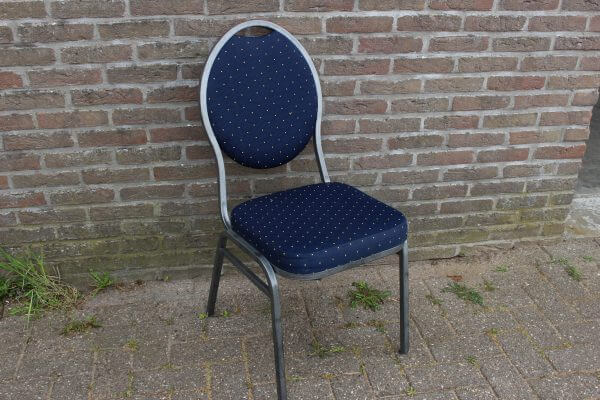 stack chair blauw