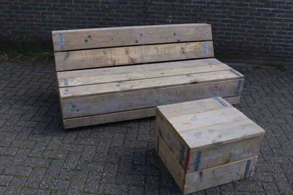 loungeset met hocker
