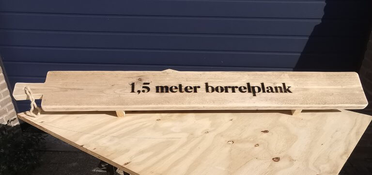 1,5 meter borrelplank